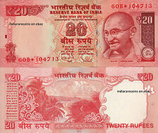 INDIA 20 RS 2012 R Inset Star Replacement Paper Money Currency Note UNC NEW