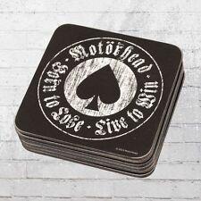 Logoshirt Coaster 6er Untersetzer Set Motörhead Born to Lose schwarz Bierdeckel