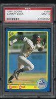 1990 Score Sammy Sosa Chicago White Sox RC #558 PSA 9 MINT Rookie Card