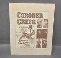 CORONER CREEK - RANDOLPH SCOTT Signed, Original 1948 Film/Movie Handbill Poster