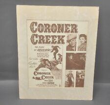 Coroner Creek - Randolph Scott Signiert, Original 1948 Film/Film Handbill Poster