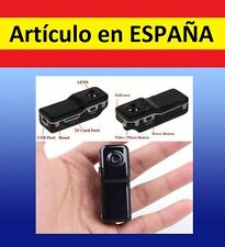 Mini camara DEPORTES MD80 DVR video y sonido fotos webcam grabadora espía oculta