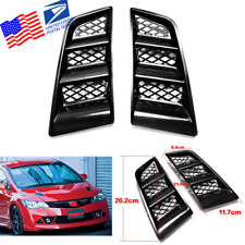 2x Universal Car Hood Louver Flush Bonnet Vent Hole Scoop Air Vent Black From US