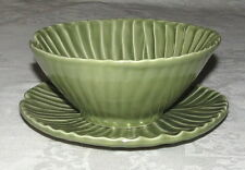 Olfaire Portugal Green Leaf Bowl and Underplate Plate Set