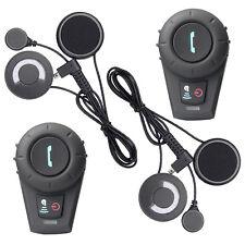2x 500M Bluetooth Auricolare Interfono interphone BT Moto Casco intercom MIC FM