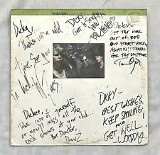 """SIGNED BY ALL 5 DEL FUEGOS Lp """"Boston Mass"""" Slash Records 9-25339-1 Autographed"""