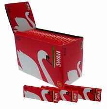 Swan Regular/Standard RED Cigarette Rolling Papers Full Box 100X Booklets/Packs!