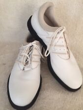Adidas Golf Shoes Womens Size 8 Soft Spike White Leather W/ Stripe Avn791003