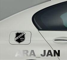 daBOSS Vinyl Decal Sticker Sport Racing Speed car gas fuel tank emblem logo BLK