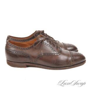 #1 MENSWEAR Edward Green x Paul Stuart 202 Last England Cigar Captoe Shoes 7.5 E