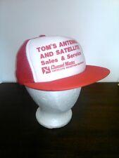 Vtg Tom's Antenna & Satelite Sales Mesh Snap Back Trucker Hat Foam Printed Logo