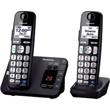 Phone Cordless 2 Handsets Long Range Clarity Noise Reduction All Digital System