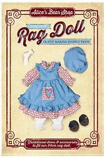 Rag Doll Traditional Dress Outfit Sewing Pattern & Instruction booklet