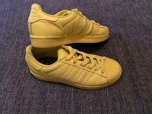 Yellow Woman Adidas Originals Superstars X Pharrell Williams Size 5