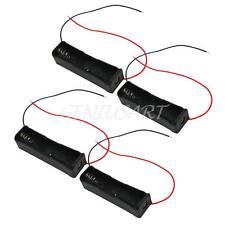 4Stk. Akku Ladehalter Box Halter mit Kabel für 1 x 18650 Kunststoff Batterie