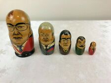 Nesting Russian Leaders Wooden Dolls