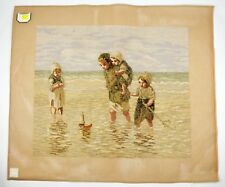 Lindhorst Tapisserie Needlepoint Children at the Beach Tapestry Needlework Wall