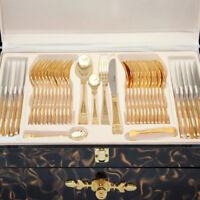 Besteck Gold vergoldet Barock 72tlg-12 Pers. Meander Medusa Mäander Versac