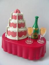 Playmobil Cake & champagne table NEW dollshouse/wedding/birthday party extras