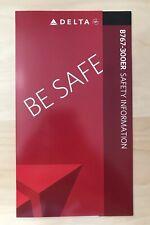 Delta Airlines Boeing 767-300ER Safety Card Neu Selten Top