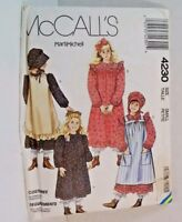 Prairie Holly Hobbie  Halloween Costume McCall's Childs Small Sewing Pattern New
