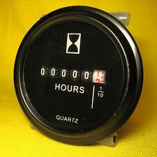 Hour Meter DC AC 12V 24V 36V 9-80Volts Round Engine Gauge Marine Tractor Mower