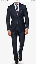 $237.00 NWT Behind Lab Extra Slim Italian suit Navy 100% Wool S130 Reda Fabric