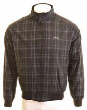 SCHOTT Mens Bomber Jacket Size 40 Large Black Check Cotton DU11