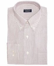 $115 CLUB ROOM Men REGULAR-FIT RED WHITE STRIPE BUTTON DRESS SHIRT SIZE 16 32/33