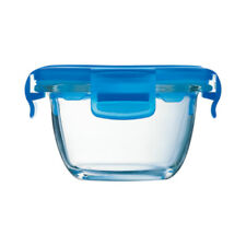 Luminarc Baby Pure Box Round with Blue Lid, 6.75 oz capacity.