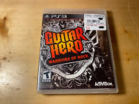 Guitar Hero: Warriors of Rock PS3 (Sony PlayStation 3, 2010) Game Complete CIB