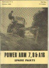McCONNEL POWER ARM 7, 8 & A16 DITCHER EXCAVATOR PARTS MANUAL