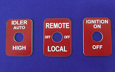 Fits Lincoln Welder Sa 200 250 Toggle Switch Legend Plates Idler Remote Ign Red