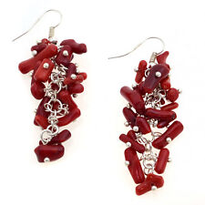 New Hot Fashion Luxury Women Girl Red Coral Dangle Earrings Jewelry Accessories