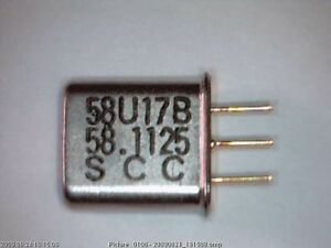 10x Quarz 58,1125 MHz 58U17B 3-Pin