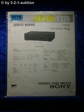Sony Service Manual TA F120 /F220 Amplifier (#5779)