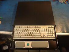 "RACK-1000KBB 19"" 1U Rackmount Keyboard/Trackball, Black, 14.5"" depth"