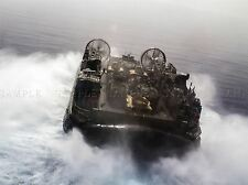 Guerra de transporte militar Hovercraft Lander Tanque Barco Mar Azul Marino cartel impresión bb3457a