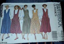 Butterick Sewing Pattern Classics 5051 Misses Jumper Jumpsuit Sz 12-16 Uncut