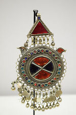 Pendant Silver Kuchi Blue Red Green Glass Foil Paper Pendant Middle Eastern
