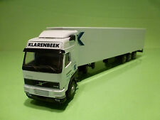 LION CAR VOLVO FH12 460 TRUCK + TRAILER- KLARENBEEK TRANSPORT - WHITE 1:50