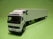 LION CAR VOLVO FH12 460 TRUCK + TRAILER- KLARENBEEK TRANSPORT - WHITE 1:50