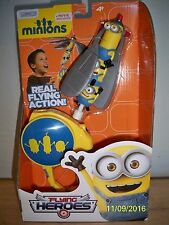 DESPICABLE ME MINIONS Real Flying Heroes Action Figure Flying Launcher Toy