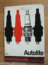 AUTOLITE BOUGIES 1969 ORIGINAL BOOK CAR, BIKES,BOATS,OUTBOARD DUTCH PC44