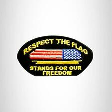 RESPECT THE FLAG Oval Small Patch for Vest jacket SB638