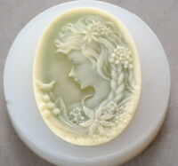 LADY CAMEO SILICONE MOLD cupcake chocolate resin polymer clay fimo soap mould