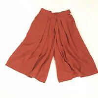 VTG Briggs Vintage S/M Coolots Crop Loose Pants Orange Front Pockets Pleated BT