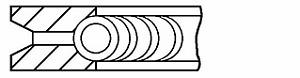 1 x Genuine Goetze 08-427100-00 Piston Ring Set Smart