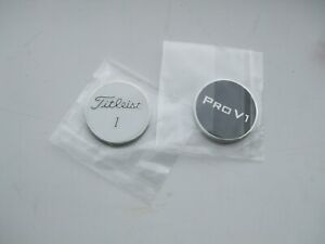 FLAT 1 inch  Titleist Golf ball marker DOUBLE Sided TITLEIST PRO V 1