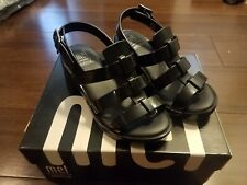 Mini Melissa Mel Flox High Inf Black Sandals Shoes Girls size 11 New in Box
